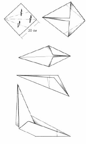 Схема складывания туловища