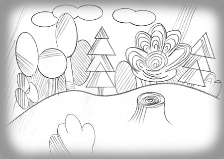 картинки для штриховки в 1 классе по сказке репка